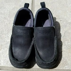 Timberland boys black leather dress shoes